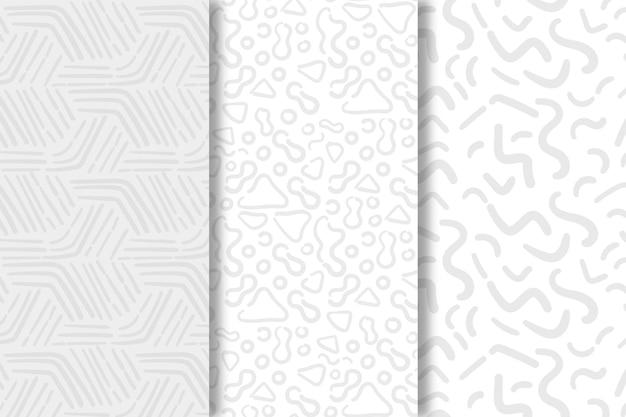 Schaduwen van witte lijnen naadloze patroon sjabloon