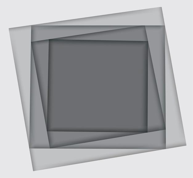 Schaduwen van witte vierkante achtergrond
