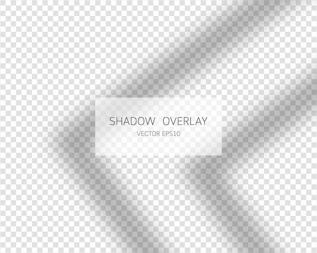 Schaduwoverlay-effect natuurlijke schaduwen van geïsoleerd venster