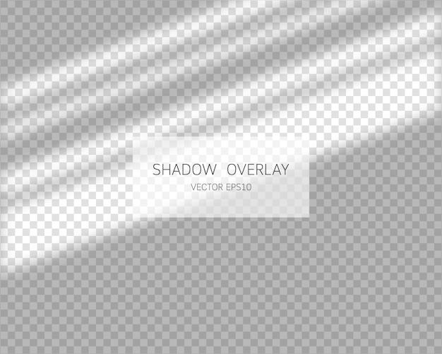 Schaduwoverlay-effect. natuurlijke schaduwen van venster op transparante achtergrond. illustratie.
