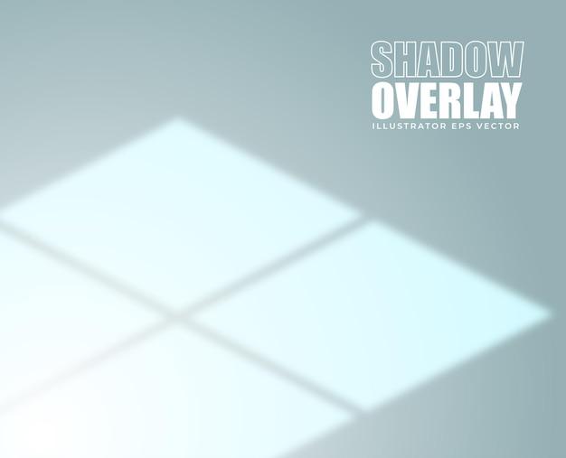 Schaduwoverlay-effect raamkozijn pastelkleurige achtergrond
