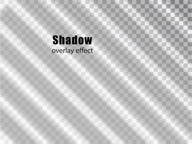 Schaduwoverlay transparant effect. licht en schaduw realistische grijze decoratieve achtergrond. schaduw en licht uit het raam. transparant schaduw-overlay-effect en natuurlijke bliksem