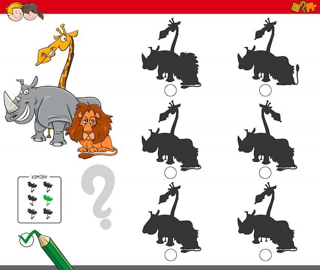 Schaduwspel met dierlijke karakters
