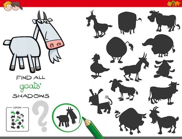 Schaduwspel met geitenkarakters