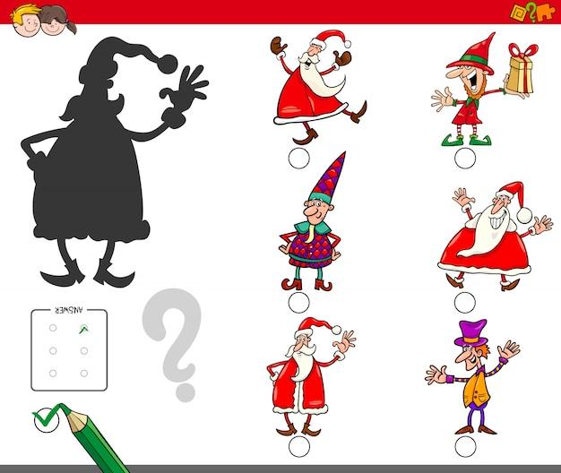 Schaduwspel met kerstpersonages