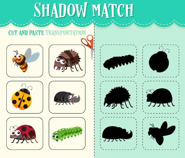 Schaduwwedstrijdspel voor kinderen
