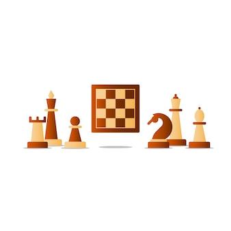 Schaken bordspel, competitie concept,