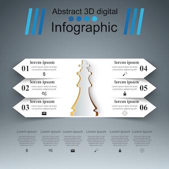 Schaken zakelijke infographic.
