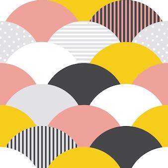 Schalen patroon naadloze abstracte achtergrond