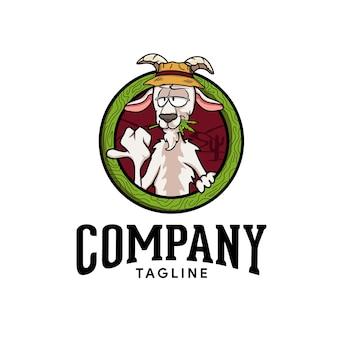 Schapen eten marihuana logo cartoon