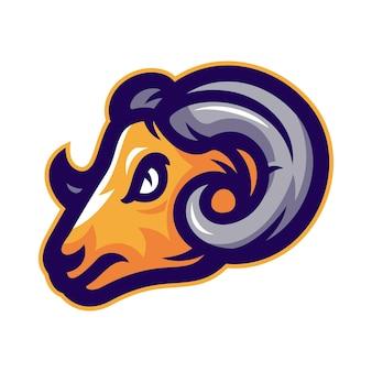 Schapen hoofd mascotte logo vector