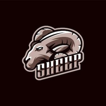 Schapen logo ontwerp illustratie