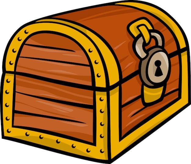 Schat borst clip art cartoon afbeelding