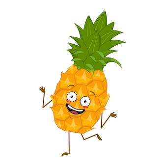 Schattig ananas karakter