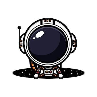 Schattig astronautenkarakter