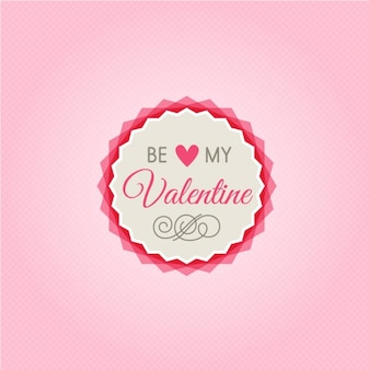 Schattig ben mijn valentijnskaart badge in retro stijl