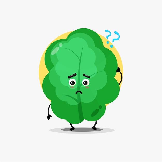 Schattig bladkarakter wordt verward