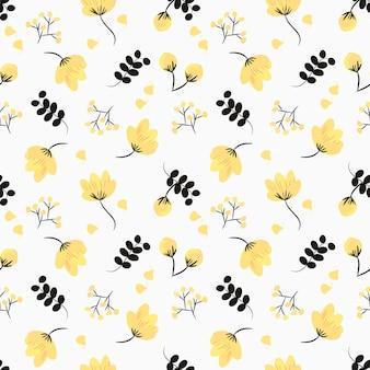 Schattig bloem naadloze patroon.
