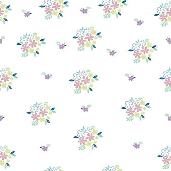 Schattig bloem naadloze patroon