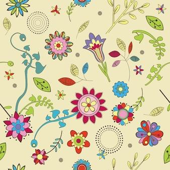 Schattig bloemen behang patroon