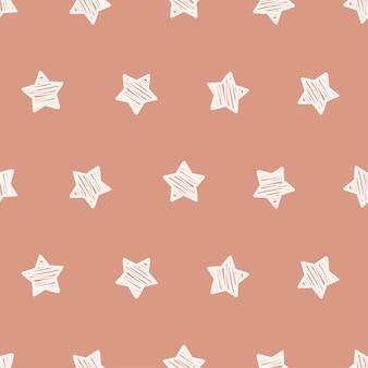 Schattig boho sterren naadloos patroon