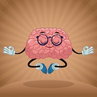 Schattig brein cartoon