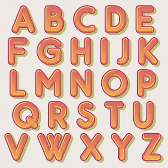 Schattig bubbel typografie ontwerp