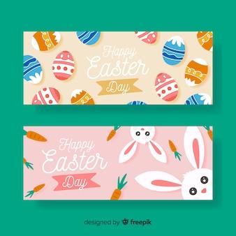 Schattig bunny pasen dag banner