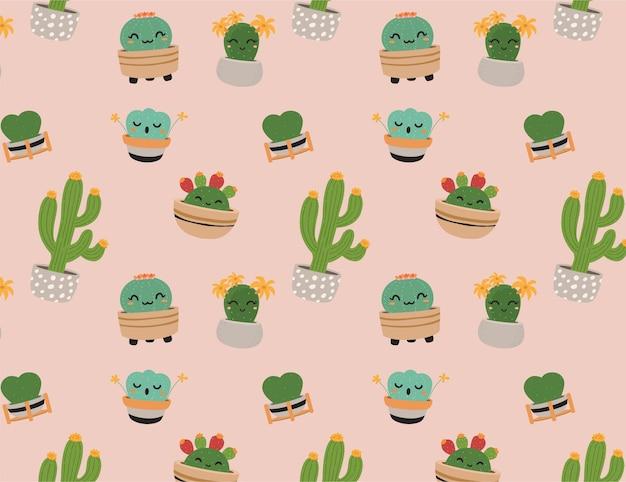 Schattig cactus patroon