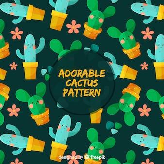 Schattig cactuspatroon
