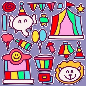 Schattig carnaval doodle ontwerp