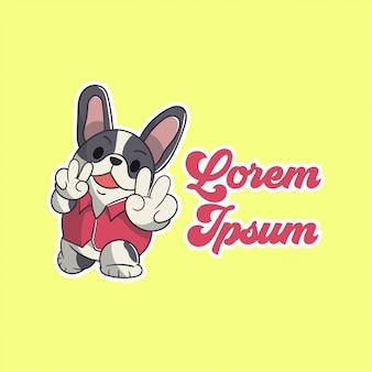 Schattig cartoon hond logo
