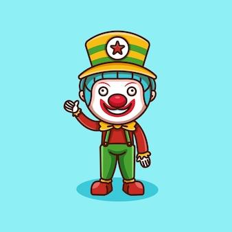 Schattig clown-logo