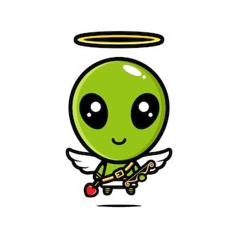 Schattig cupido alien karakter ontwerp