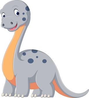Schattig dinosaurus diplodocus cartoon