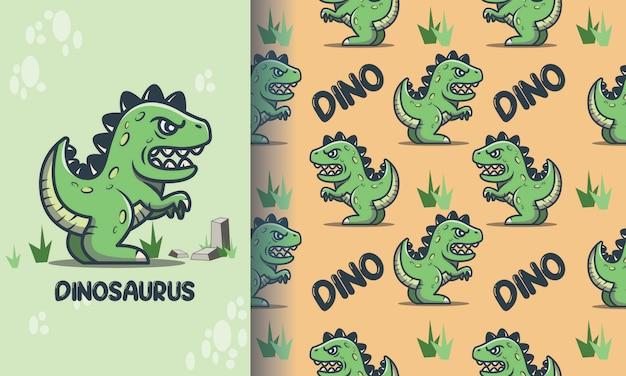 Schattig dinosaurus naadloos patroon