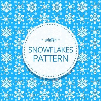 Schattig doodle schattig sneeuwvlok winter naadloze patroon