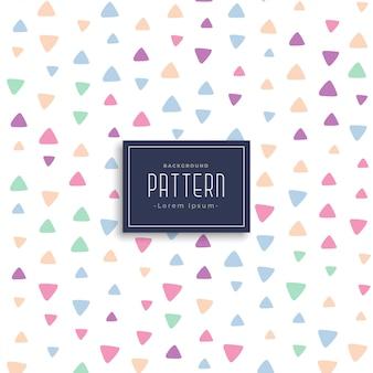 Schattig driehoek patronen vector achtergrond