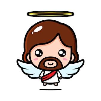 Schattig engel jezus christus ontwerp