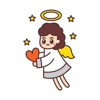 Schattig engelen cartoon