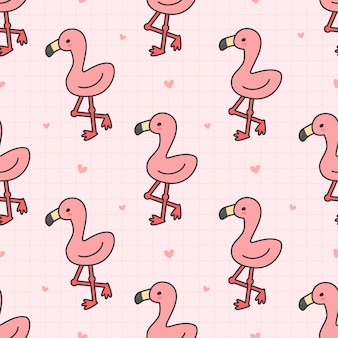 Schattig flamingo naadloze patroon achtergrond