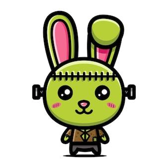 Schattig frankenstein konijntje karakter