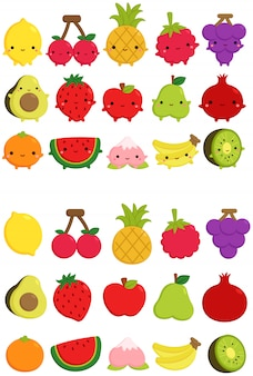 Schattig fruit pictogram