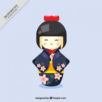 Schattig geisha achtergrond