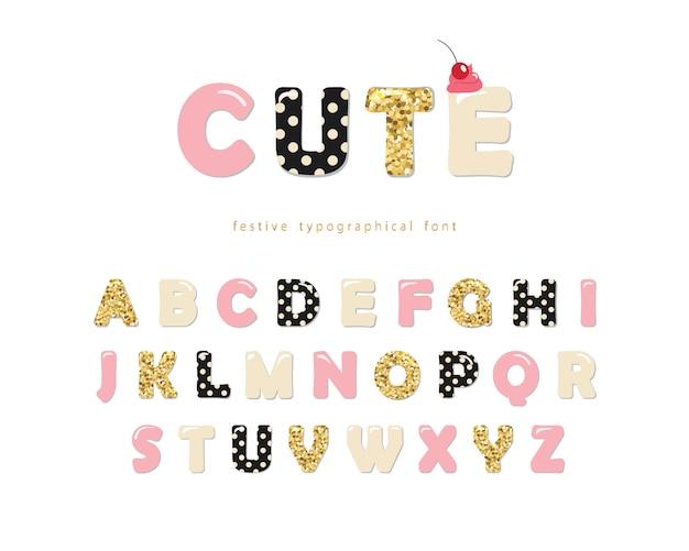 Schattig girly lettertype