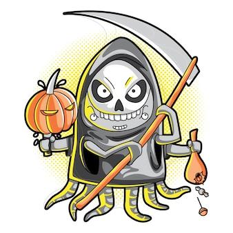 Schattig grim reaper kostuum