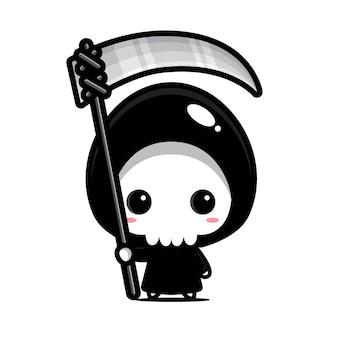 Schattig grim reaper vector ontwerp