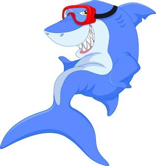 Schattig haai cartoon