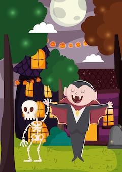 Schattig halloween illustratie