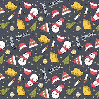 Schattig handgetekend kerst naadloos patroon